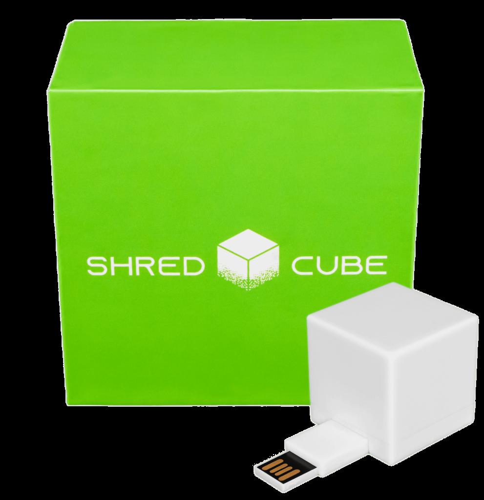 shred cube packaging illustration