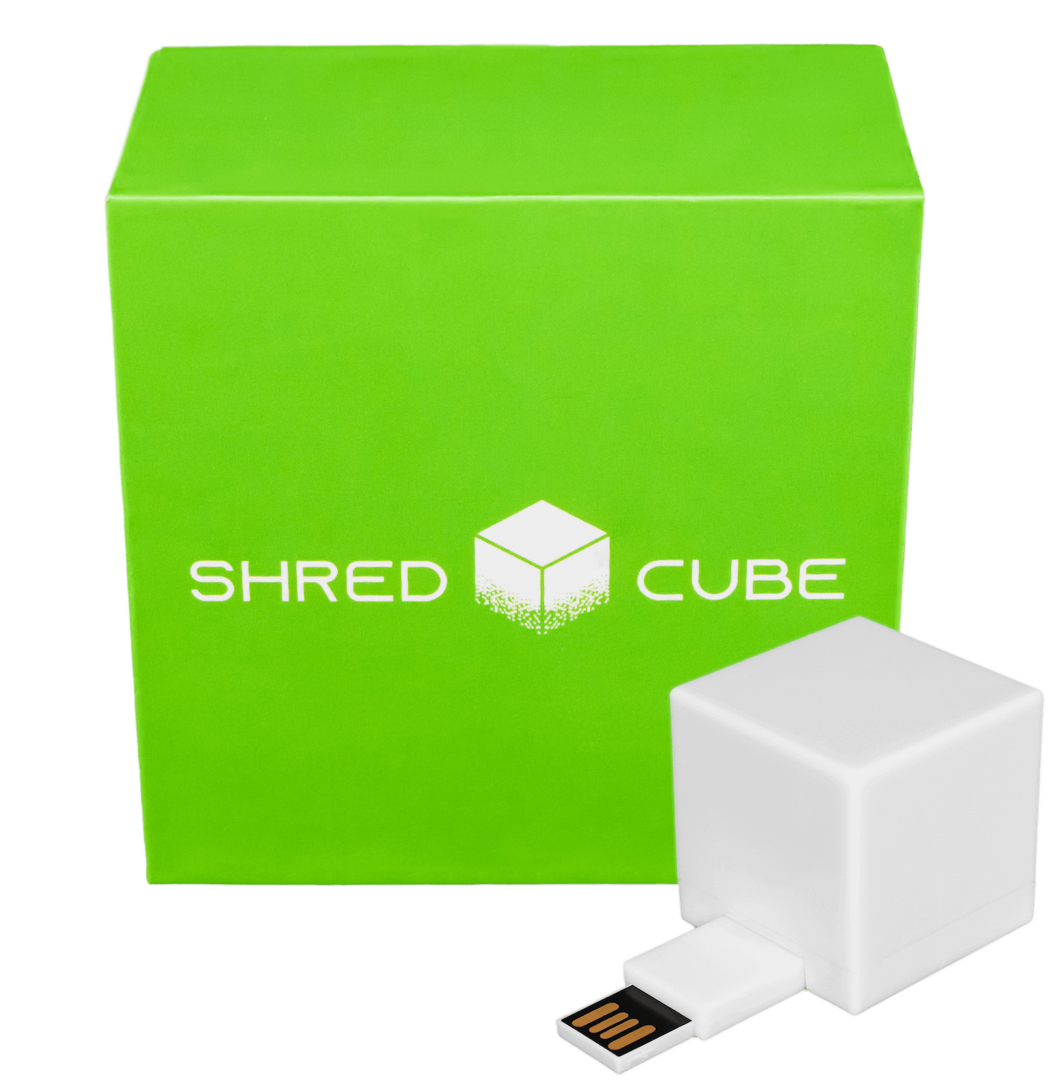 shred cube packaging illustration