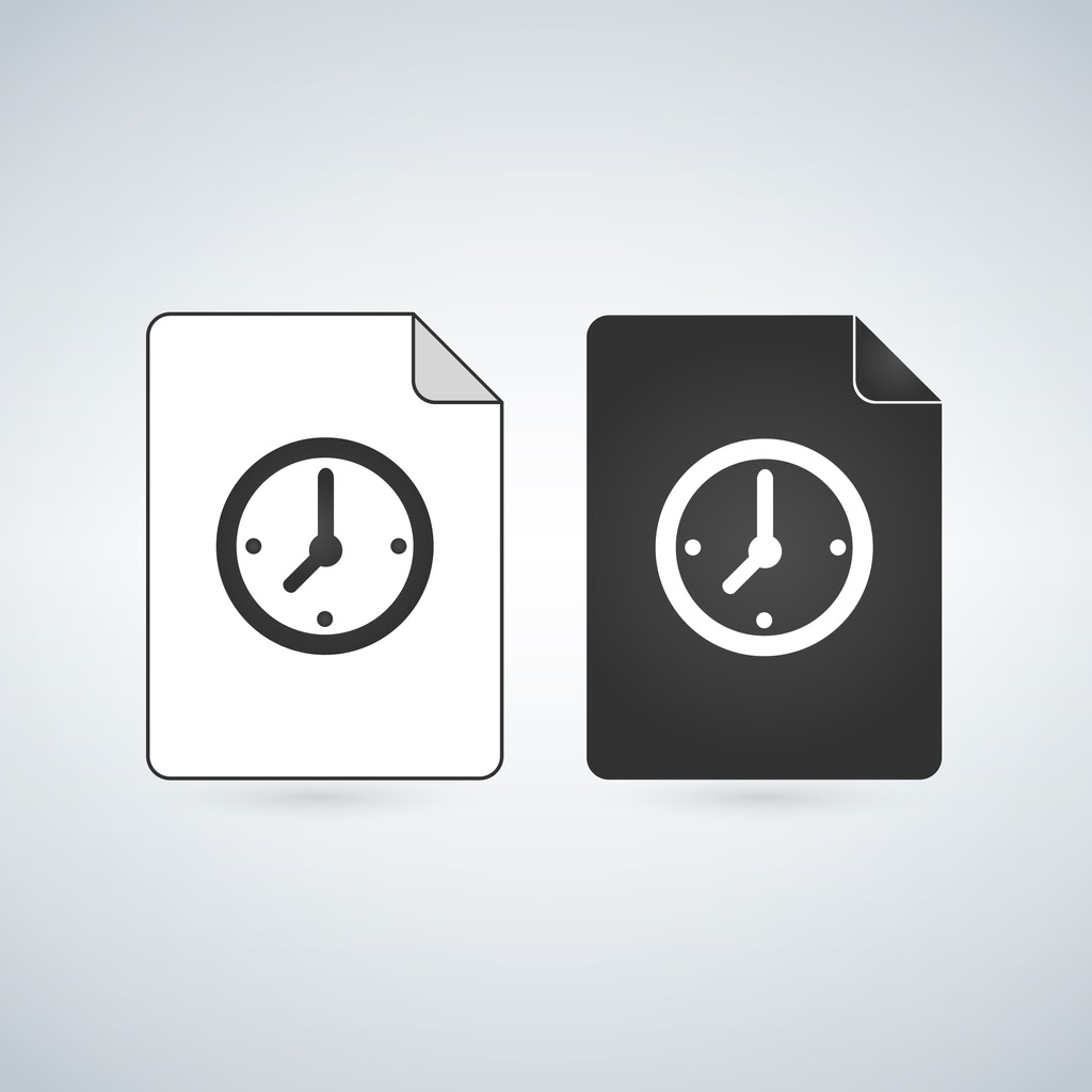 two temp files witch clock icons