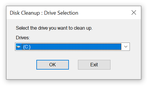 disk cleanup windows example
