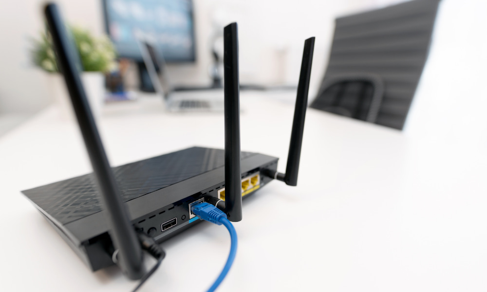 Router on a desk