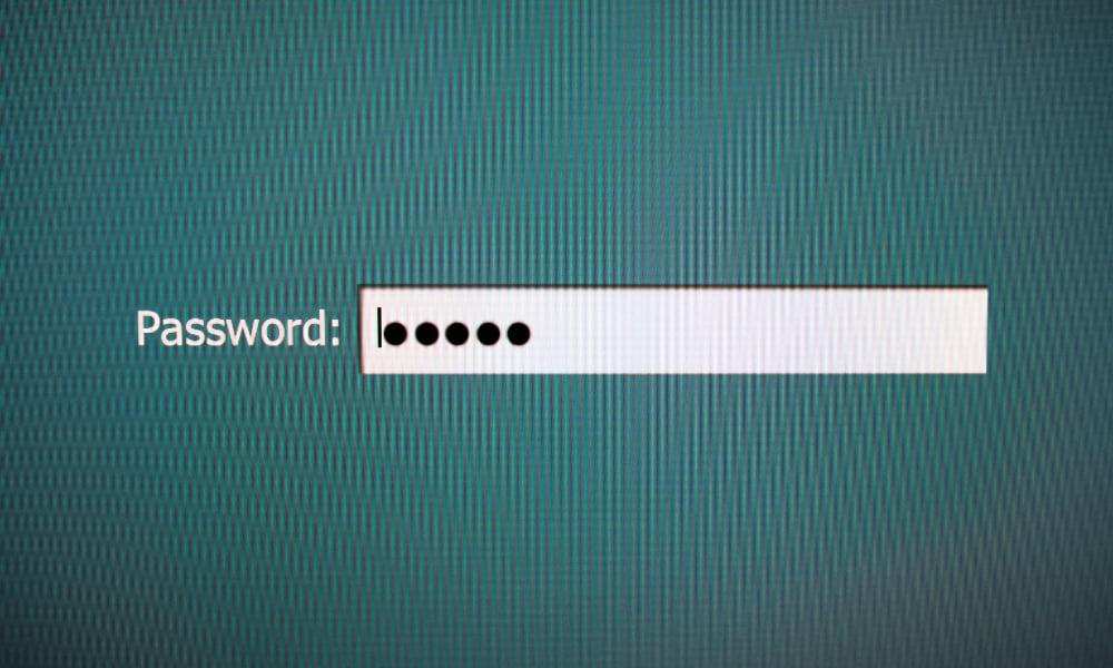 the password input spot