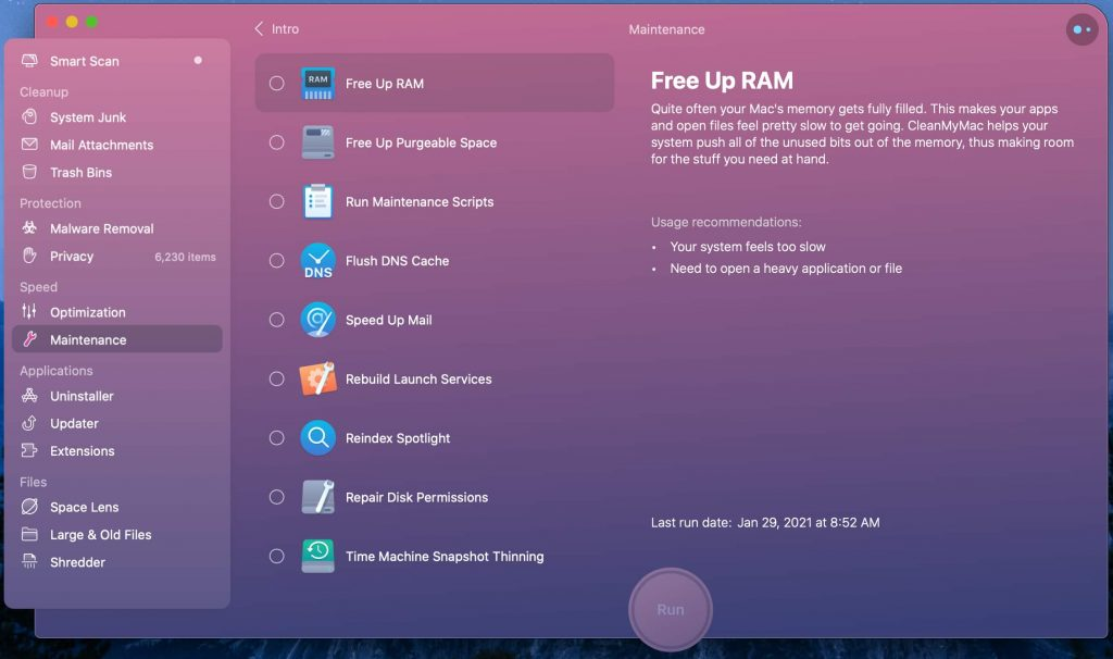 Image showing how to free up RAM