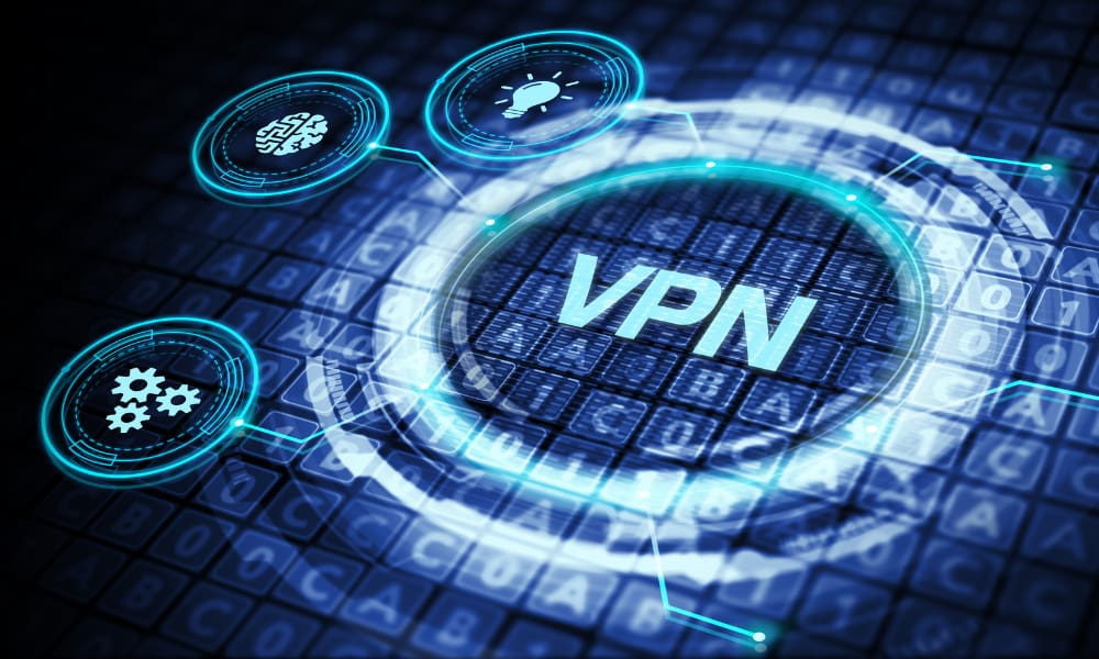 VPN on a icon logo