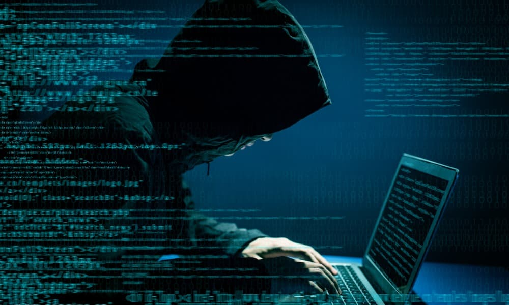 A criminal uses IP spoofing to gain access to a network to steal data.